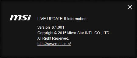 Live Update 6 Instruction | MSI Global