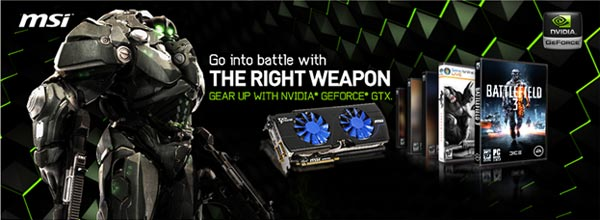 Get Ready for the Best DirectX 11 Experience with MSI NVIDIA GTX