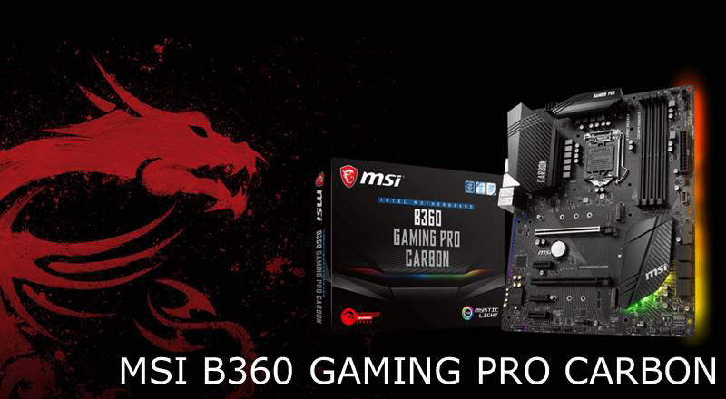 msi intel b360 gaming pro carbon motherboard