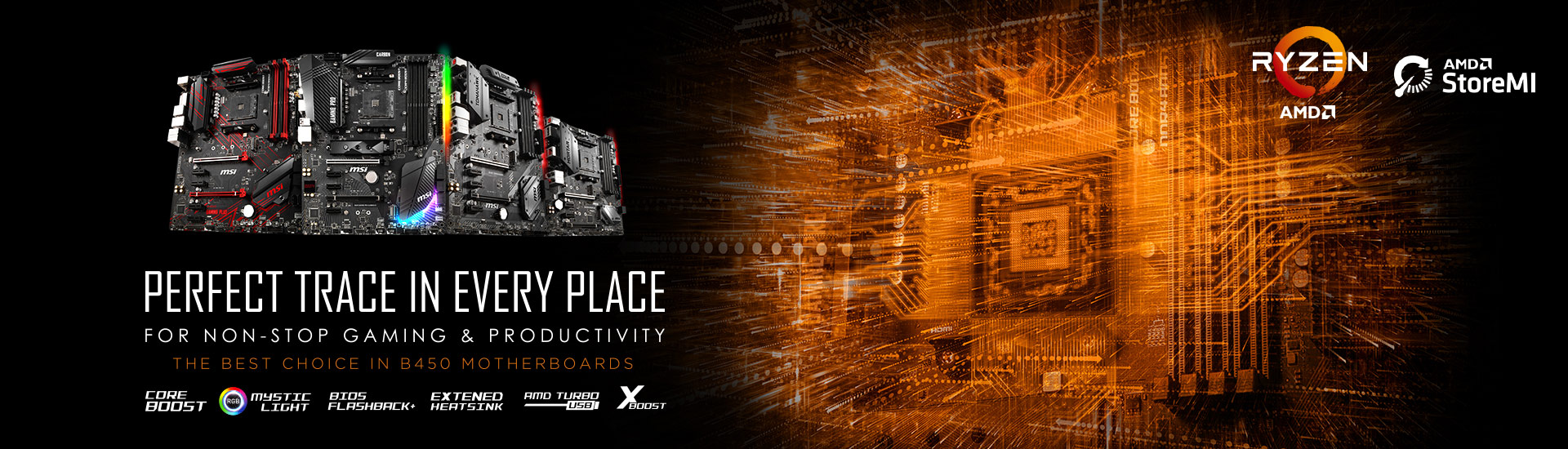 PERFECT TRACE IN EVERY PLACE, MSI Releases B450 Motherboards for New