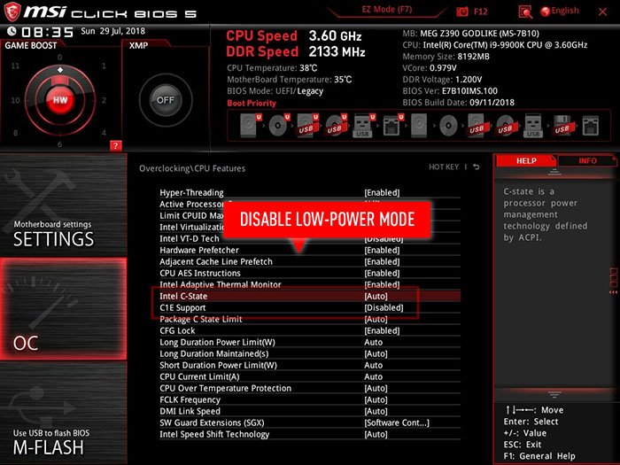 How can you overclock your Intel 9th Gen CPU up to 5GHz with MSI
