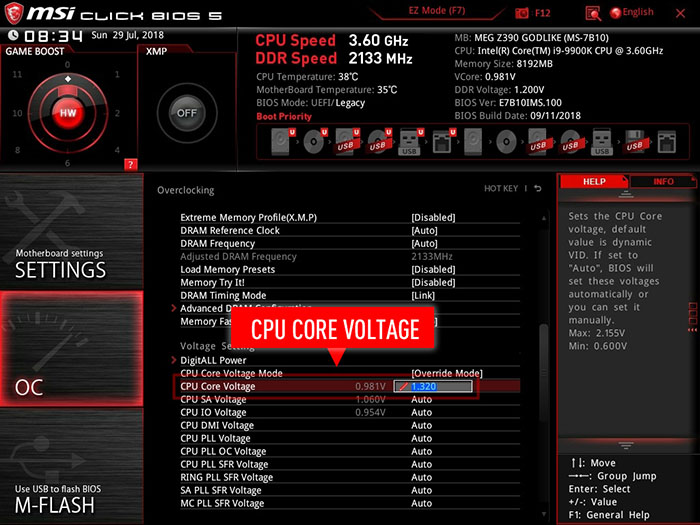 How can you overclock your Intel 9th Gen CPU up to 5GHz with