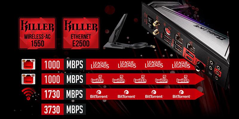 MSI MEG Z390 GODLIKE get the fastest WiFi module with Killer!