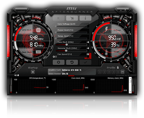 MSI Afterburner, the most recognized and widely used Overclocking  Software in the world