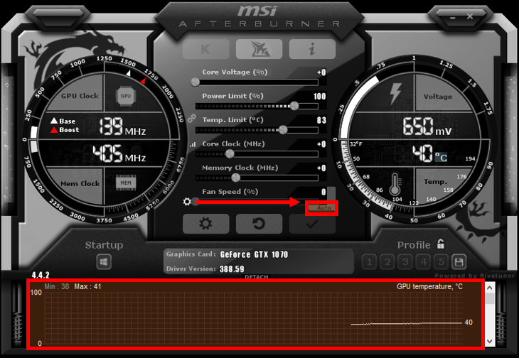 Here's where you can find some of the key features of MSI Afterburner