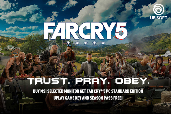 Ubisoft Far Cry 5 Game code Bundle/ Gaming Monitor/ MSI