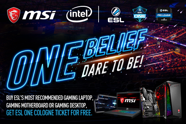 MSI Exclusive ESL One Cologne Ticket Bundle | MSI