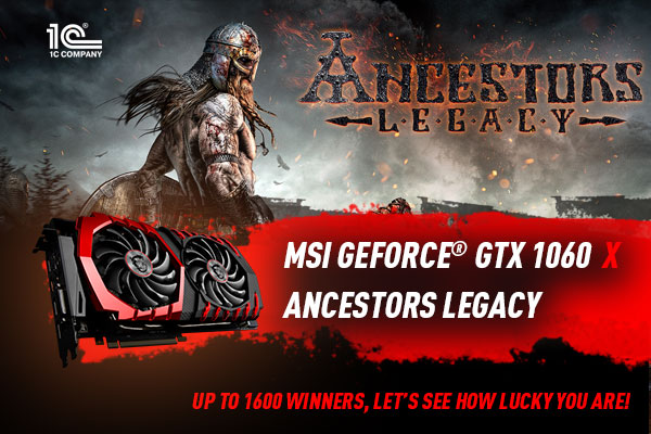 MSI GeForce(r) GTX 1060 Graphics Card Ancestors Legacy Bundle
