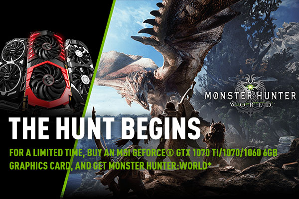 Paquete Nvidia con Moster Hunter: World