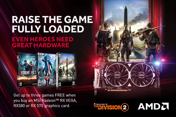 [EU/NALA] AMD Radeon™ 2018 Q4 RAISE THE GAME FULLY LOADED