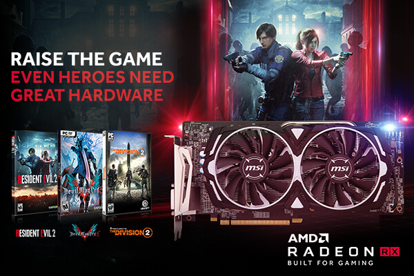 AMD Radeon™ 2018 Q4 RAISE THE GAME FULLY LOADED