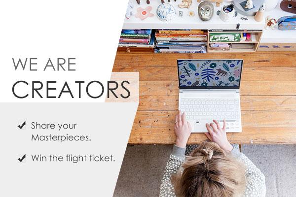 We Are Creators – Montrez votre créativité au monde entier !