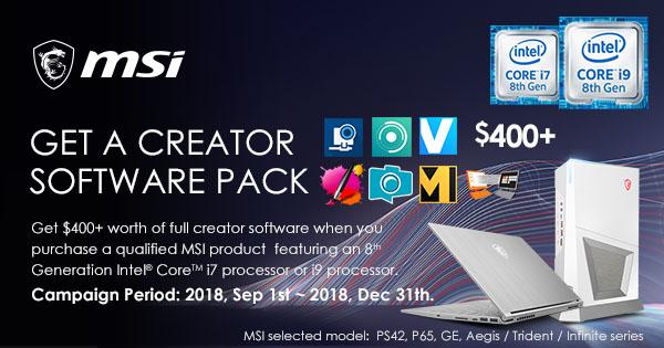 get a creator software pack