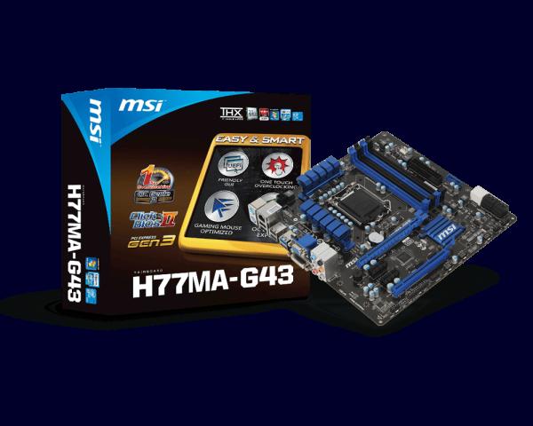 NEW DRIVER: MSI H77MA G43