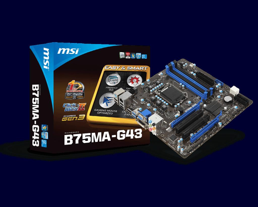 MSI B75MA-G43 64x
