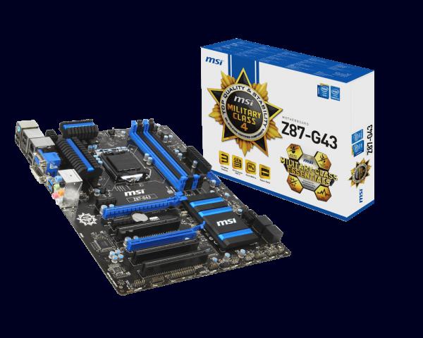 MSI Z87-G43 Intel Rapid Start Technology Windows