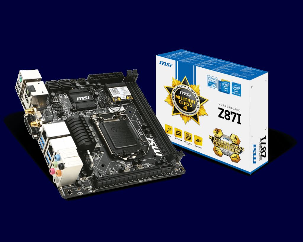 MSI Z87I Intel Rapid Start Technology 64x