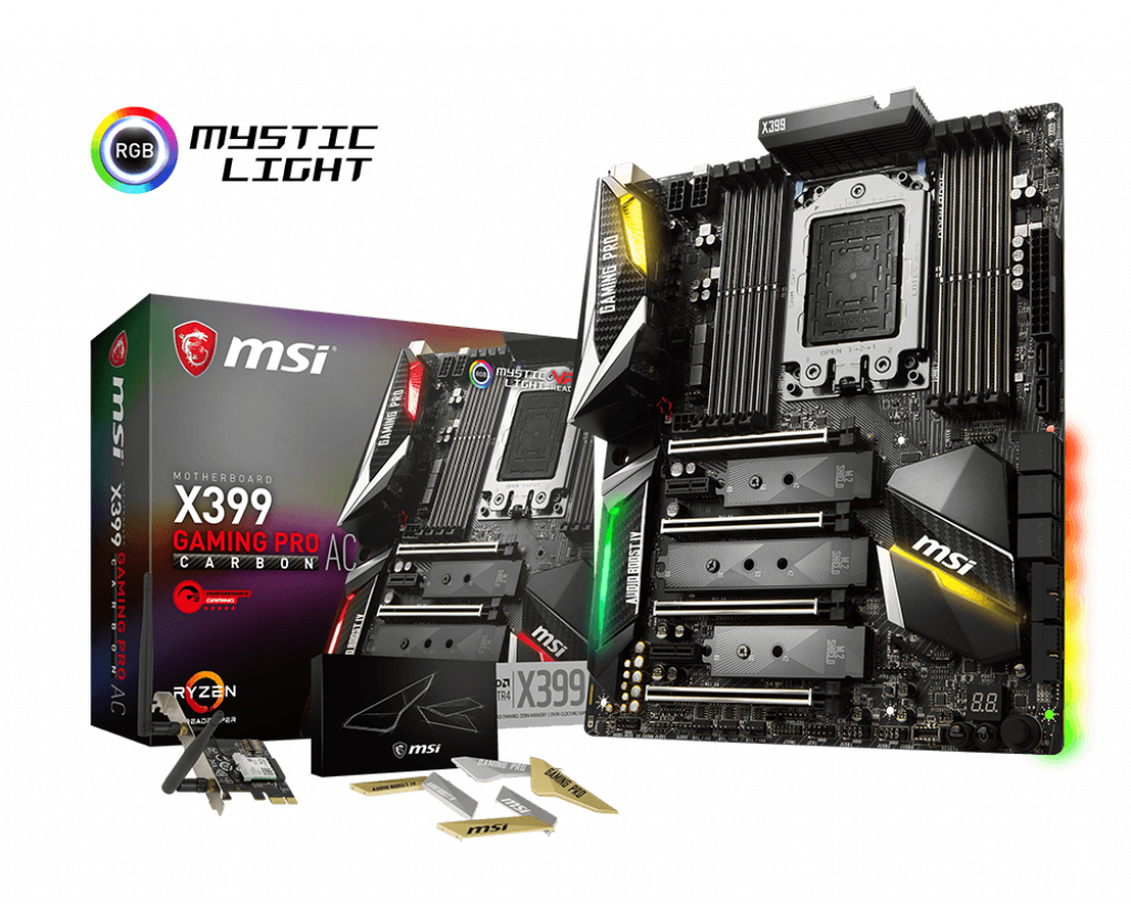 X399 Gaming Pro Carbon Ac Motherboard The World Leader In Motherboard Design Msi Global