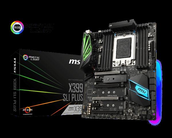 X399 Sli Plus Motherboard The World Leader In Motherboard Design Msi Global