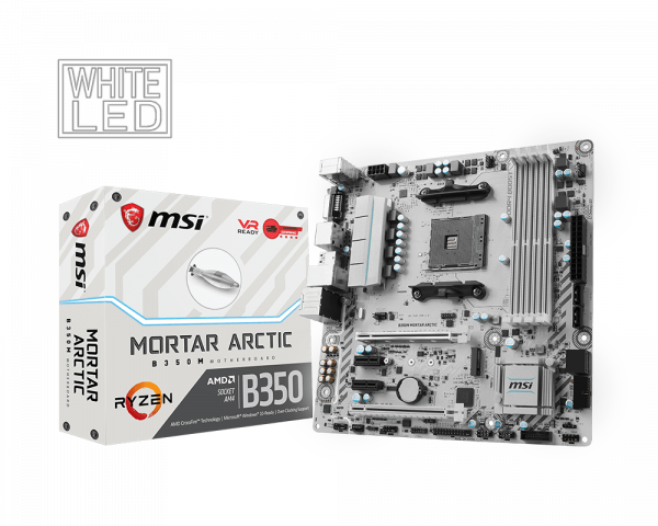 B350M MORTAR ARCTIC | Motherboard - The world leader in motherboard