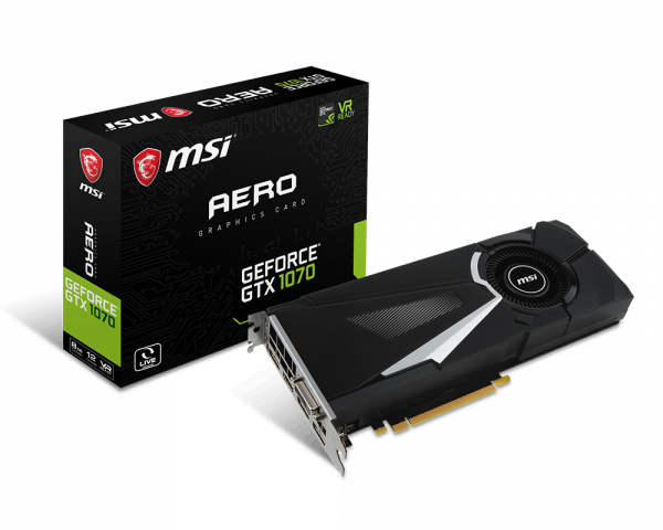 GeForce GTX 1070 AERO 8G | Graphics card - The world leader