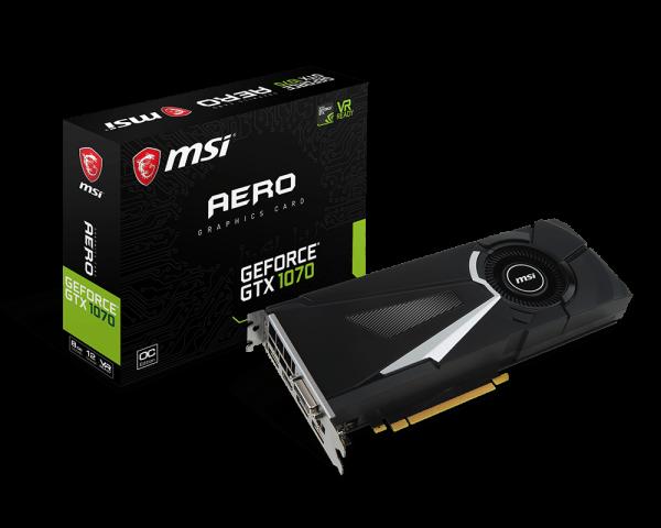 GeForce GTX 1070 AERO 8G OC | Graphics card - The world