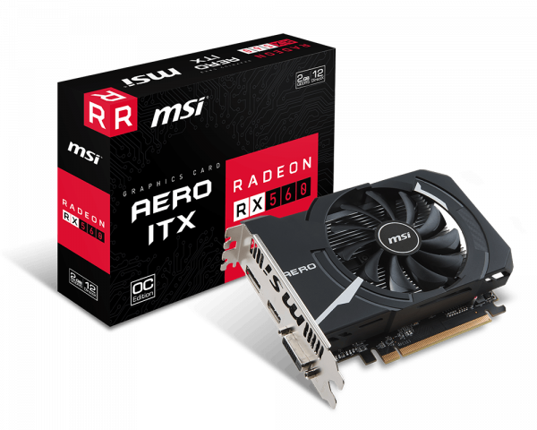 Specification for Radeon RX 560 AERO ITX 2G OC | Graphics card - The