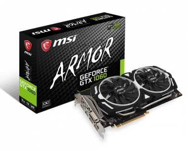 Support For GeForce GTX 1060 ARMOR 6G OC   Graphics card