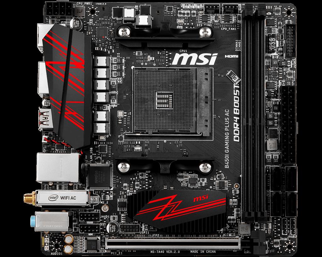 MSI B450I GAMING PLUS AC : Compute & More Co , Ltd  บริษัท คอมพิว