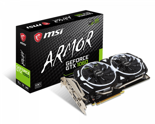 GeForce GTX 1060 ARMOR 6G OCV1GeForce GTX 1060 ARMOR 6G OCV1