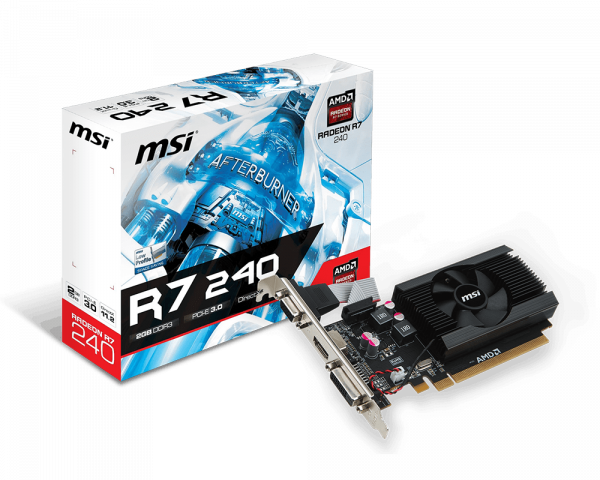 R7 240 2GD3 64b LP | Graphics card - The world leader in display