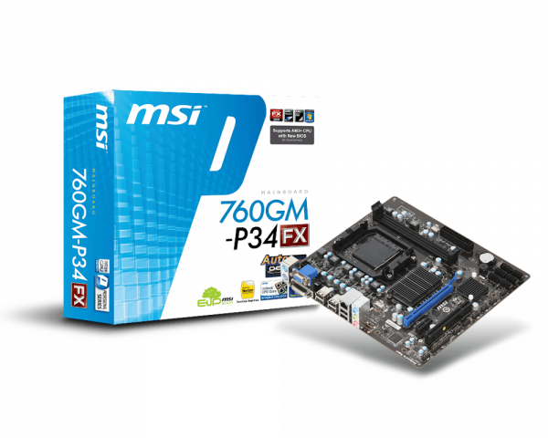 760GM-P34 (FX) | Motherboard - The world leader in motherboard