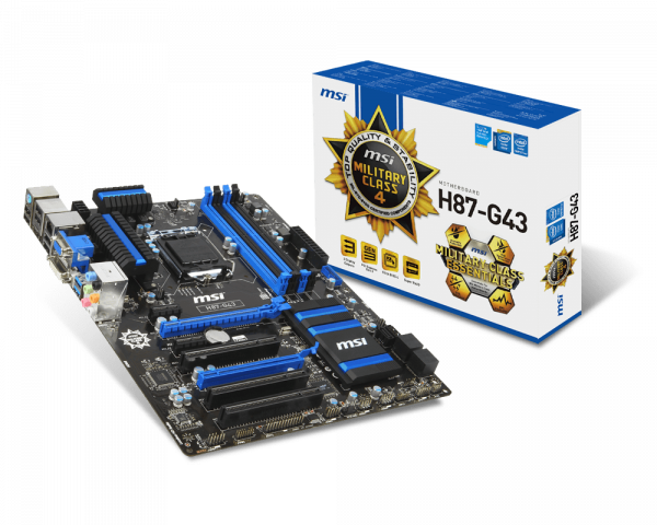 MSI H87-G43 Gaming Intel Smart Connect Technology 64x