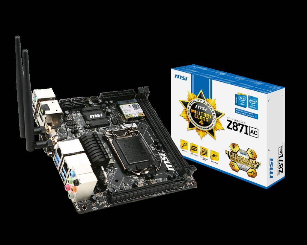 MSI Z87I Gaming AC Intel Rapid Start Technology Treiber Windows XP
