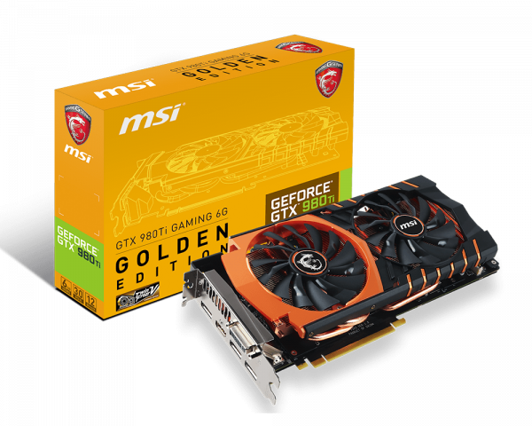 Msi releases gtx 980ti gaming 6g golden edition | techporn.