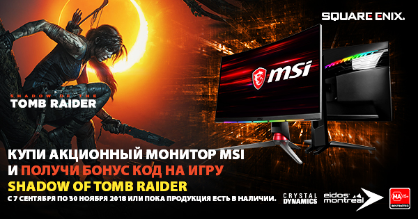 SHADOW OF TOMB RAIDER | Мониторы MSI