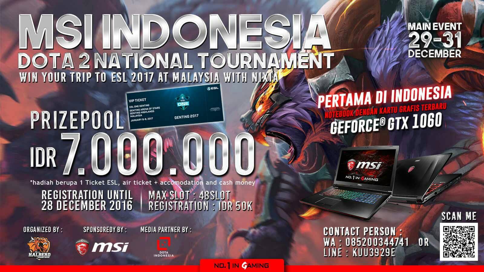 msi indonesia dota 2 national tournament msi global