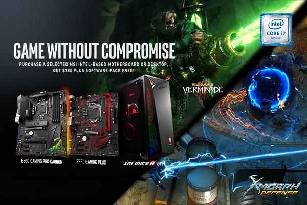 ชุดอุปกรณ์เกมใหม่ล่าสุดของ Intel | เมนบอร์ดและเดสก์ท็อป MSI