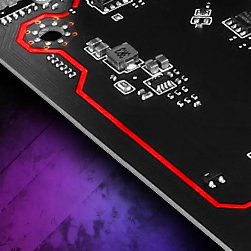 Isolated audio design with LED çizgilerle ayrılan izole ses devreleri