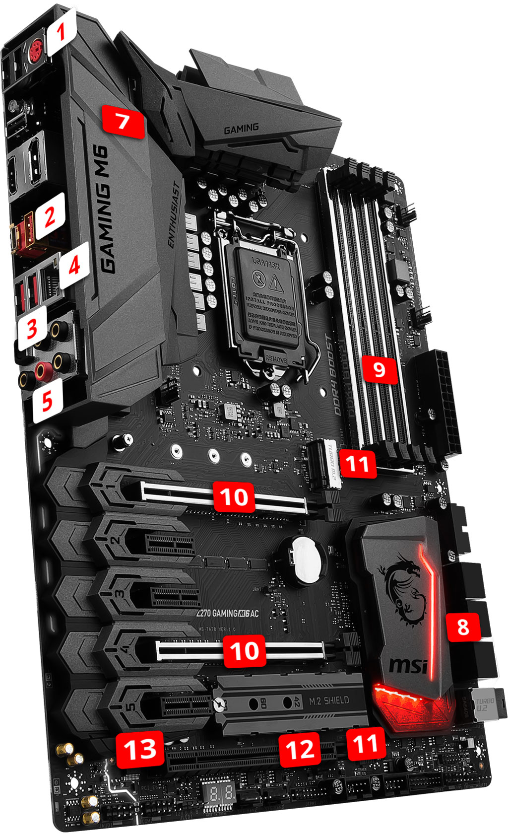 MSI Z270 GAMING M6 AC overview