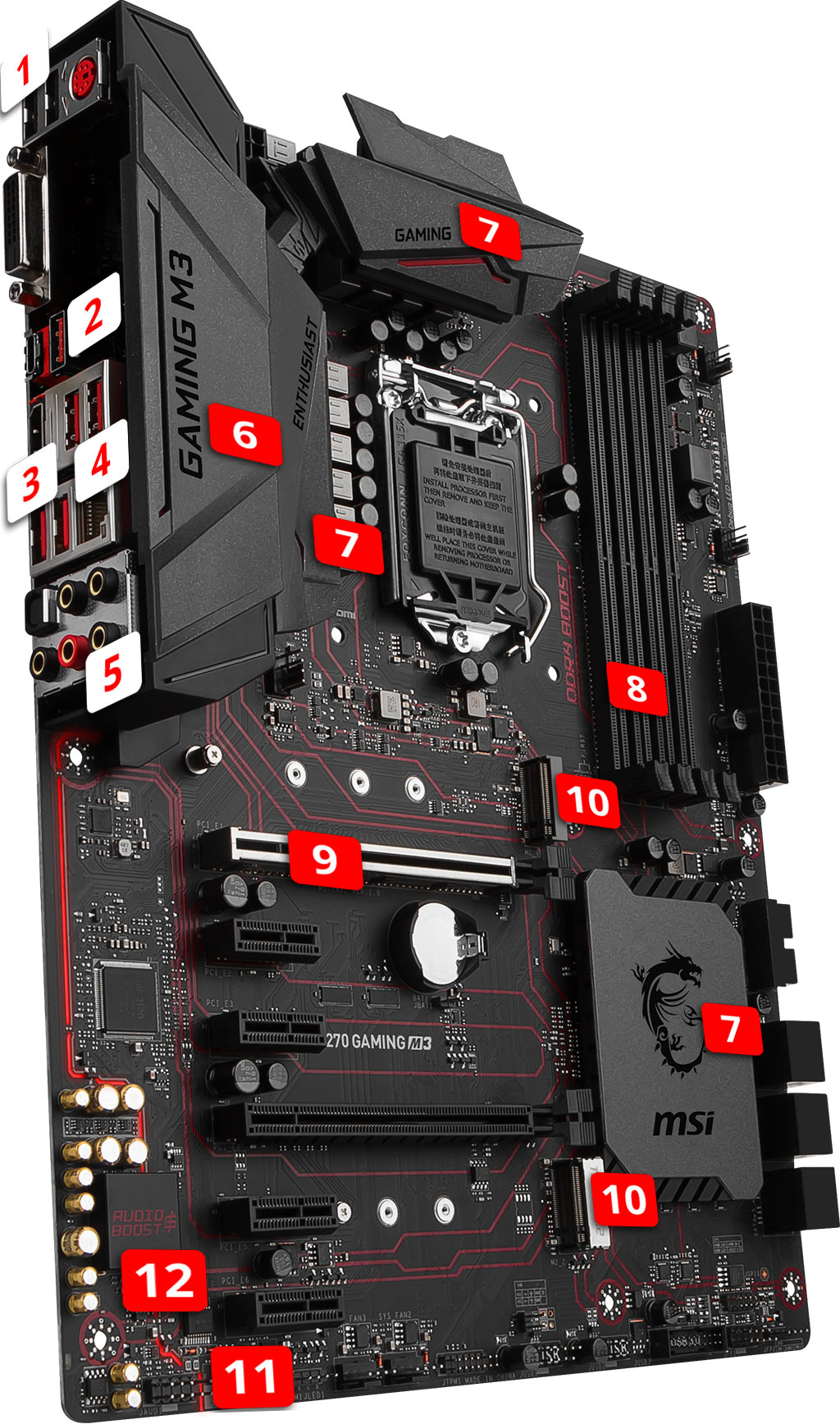 MSI H270 GAMING M3 overview