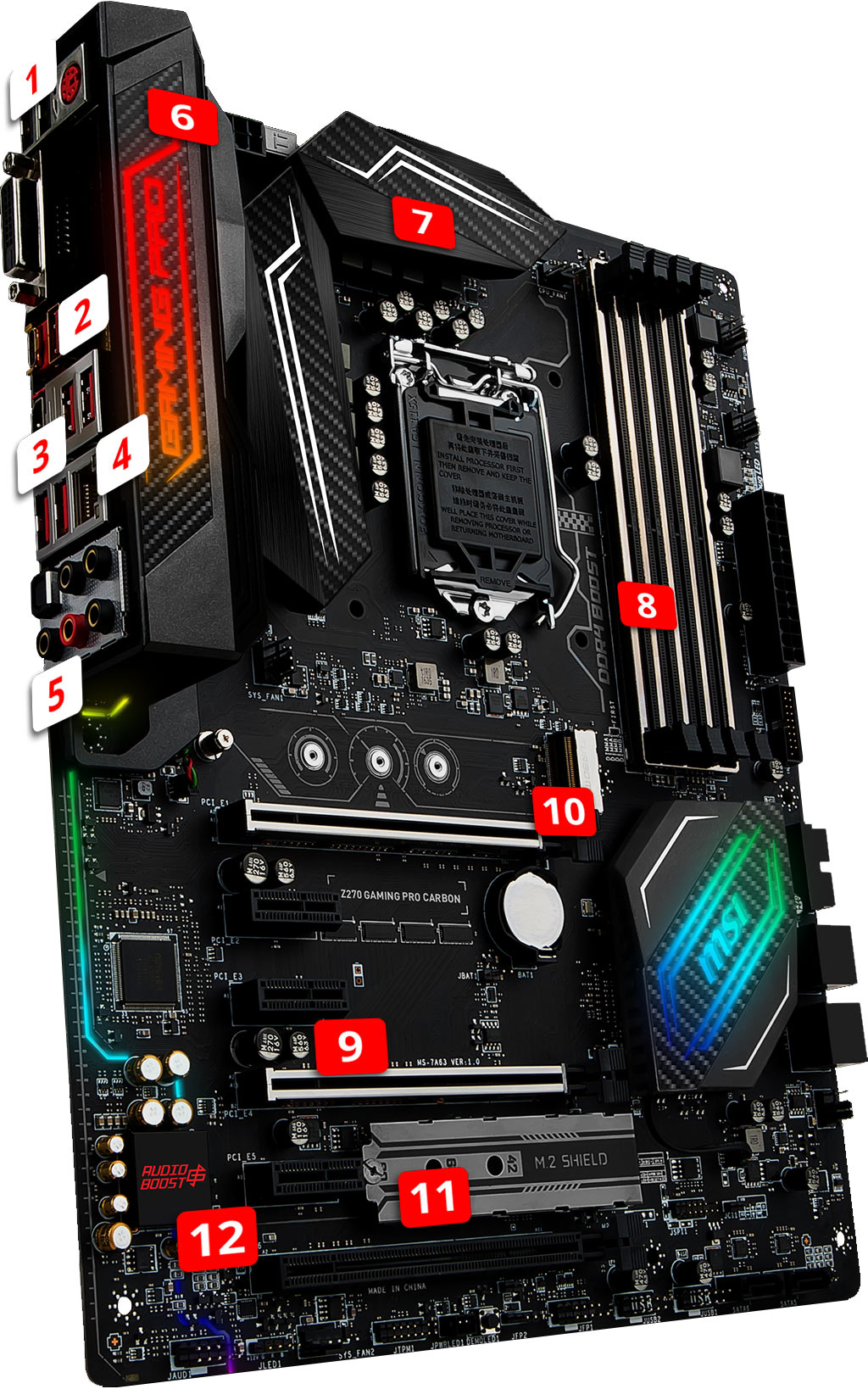 MSI Z270 GAMING Pro Carbon overview