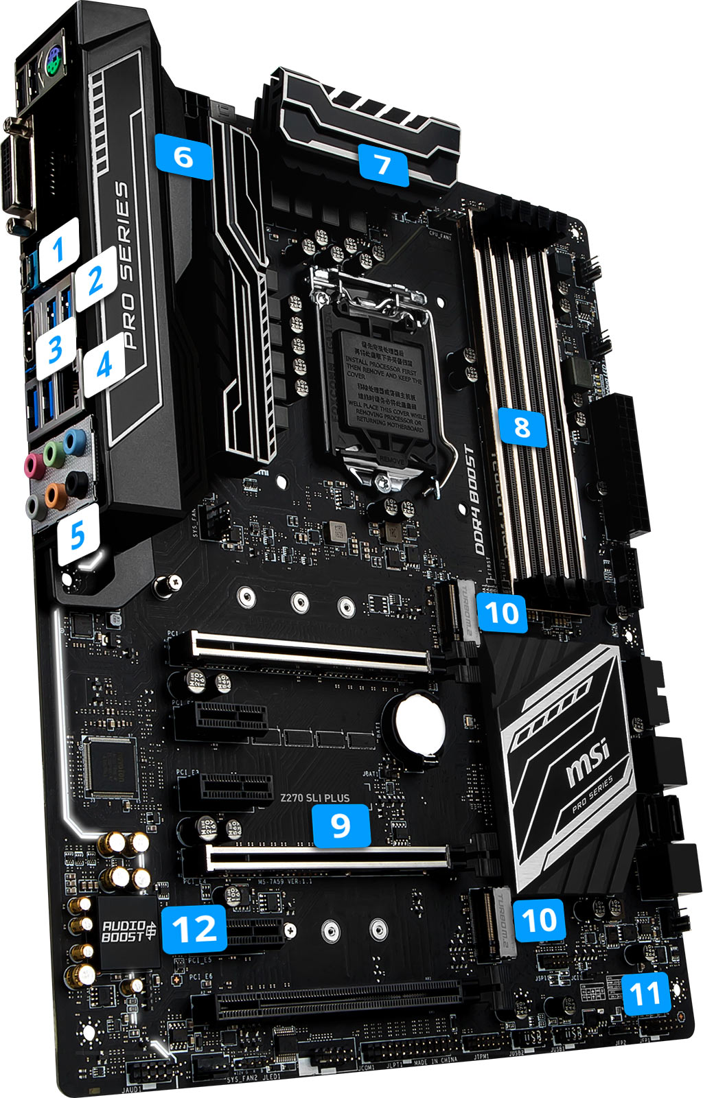 MSI Z270 SLI Plus overview